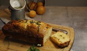 Cake aux prunes et sirop de menthe