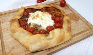 Tarte tomates et burrata
