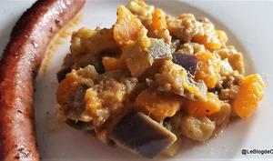 Aubergine et Citrouille à la pâte d'arachides