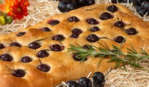 Focaccia aux raisins ou schiacciata con l'uva