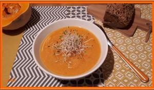 Velouté de Butternut, Patate douce et Quinoa