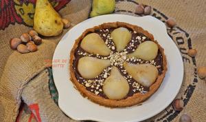 Tarte Poires aux Épices, Chocolat et noisettes