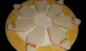 Sandwich cercueil d'Halloween