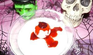 Fromage blanc à l'œil d'Halloween