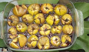 Figues au four à la crème de cassis