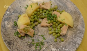Tajine de poulet aux petits pois