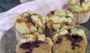 Le muffin aux cranberries fourré et son crumble