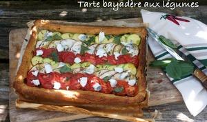 Tarte bayadère aux légumes d'été