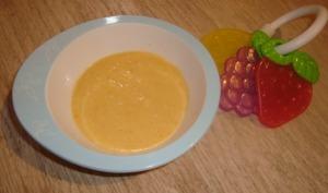 Soupe carotte, poireau, pomme de terre à la vache qui rit