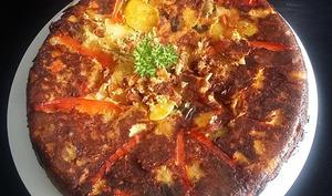 'Tortilla' de pommes de terre et ratatouille