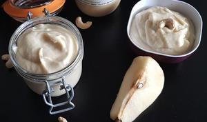 Beurre de poires et noix de cajou