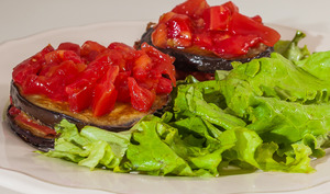Salade aux aubergines