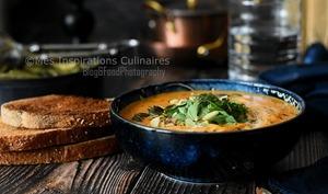 Soupe de patate douce aux epices thailandaise