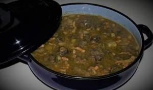 Bœuf mijoté au poireau, carotte et navet