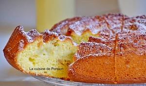 Gâteau yaourt au beurre de rhubarbe