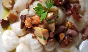 Gnocchi à la crème de parmesan et cèpes