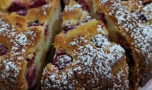 Gâteau sablé aux Framboises.