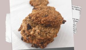 cookies aux flocons d'avoines à la banane et au chocolat noir