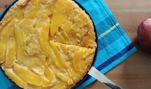 Tarte fine à la mangue et au caramel beurre salé