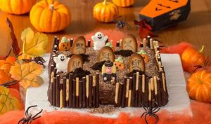 Gâteau cimetière d'Halloween