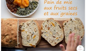 Pain de mie aux fruits secs et aux graines