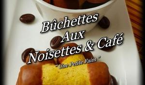 Bûchettes aux noisettes et café