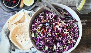 Salade de chou rouge à l'américaine