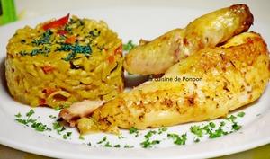 Coucou de Malines mariné à la provençale, cuit à basse température et risotto