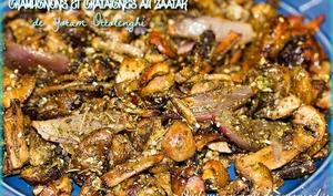 Champignons et châtaignes au zaatar