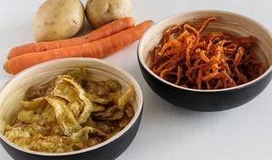 Fritures d'épluchures de légumes