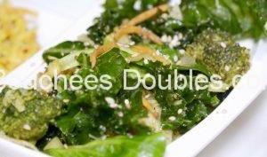 Salade de chou kale alcalinisante