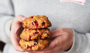 Cookies aux cranberries fraîches et au chocolat noir