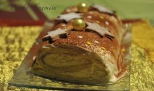 Bûche tiramisu - Les recettes de Jacre/En toute simplicité