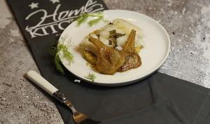 Cabillaud basse température couscous épicé et fenouil confit