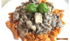 Poulet crémeux aux champignons - sucreetepices.over-blog.com