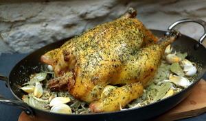 Poulet rôti cuisson basse température au four