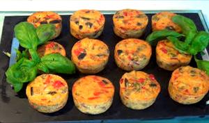 Tartelettes salées de légumes