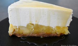 Cheesecake aux pommes caramélisées et sirop d'érable