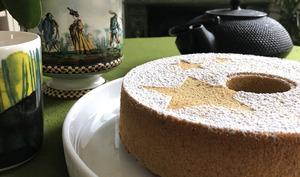 Chiffon cake au thé Matcha
