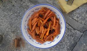 Salade carottes olives fleur d'oranger cannelle