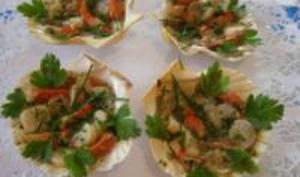 Coquilles Saint-Jacques en Salade