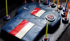 Gâteau d'anniversaire, le tee-shirt du PSG