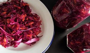 Salade de chou rouge mariné