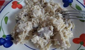 Emincés de dinde au riz et champignons, extra crémeux et moelleux
