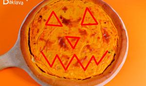 Gâteau à la courge et lardons pour Halloween
