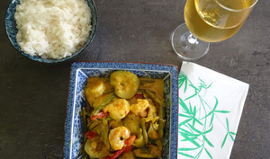 Curry de crevettes