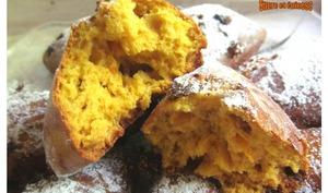 Scones aux potiron, orange et raisins secs