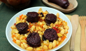 Boudin noir et haricots lingots de Patrick Asfaux