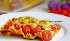 Clafoutis aux tomates cerises de l'académie du goût