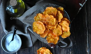 Chips de patates douces croustillantes
